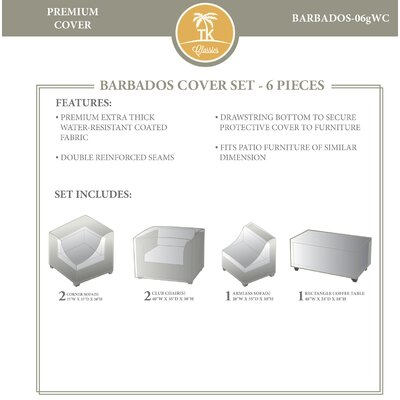 Barbados 6 Piece Cover Set