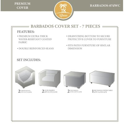 Barbados 7 Piece Cover Set