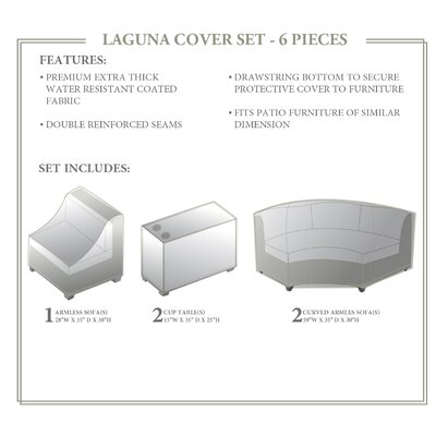 Laguna 6 Piece Cover Set