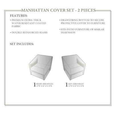Manhattan 2 Piece Sofa Cover Set