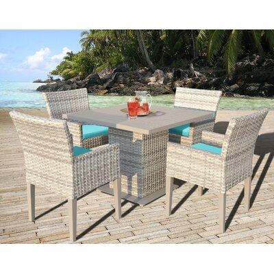 Fairmont 5 Piece Dining Set with Cushion Cushion Color: Aruba