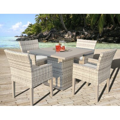 Fairmont 5 Piece Dining Set with Cushion Cushion Color: Beige