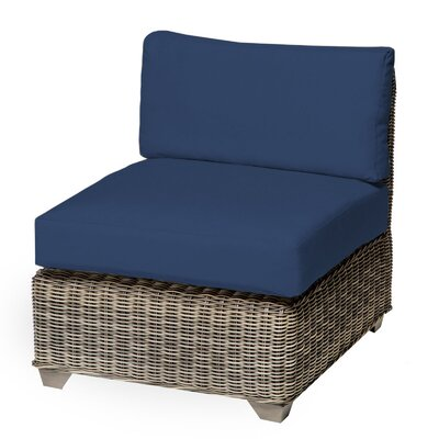 Holly Hill Slipper Chair and Ottoman Fabric: Navy