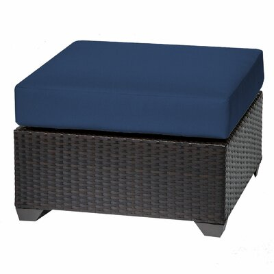 Barbados Ottoman with Cushion Fabric: Navy