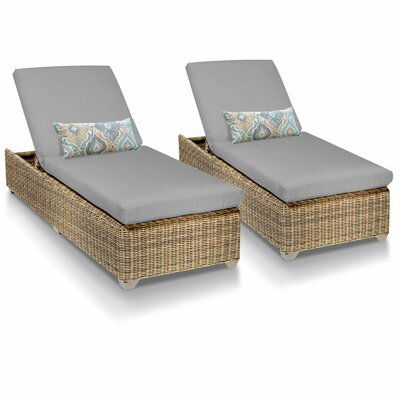 Cape Cod Chaise Lounge with Cushion Fabric: Grey