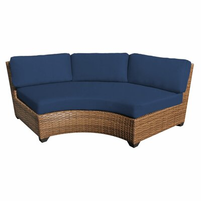 Laguna Sofa with Cushions Fabric: Navy