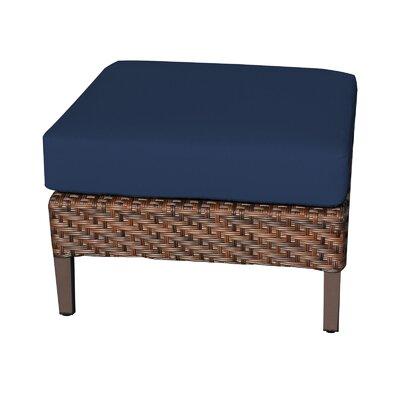 Carmel Ottoman with Cushion Fabric: Navy