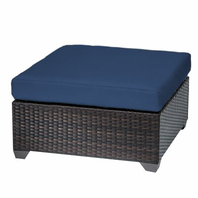 Belle Ottoman with Cushion Fabric: Navy
