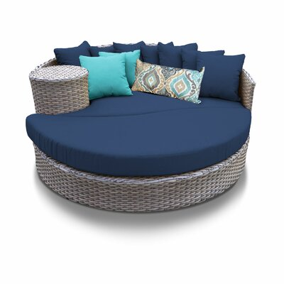 Daybed with Cushions Fabric: Navy