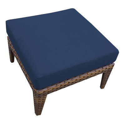 Manhattan Ottoman with Cushion Fabric: Navy