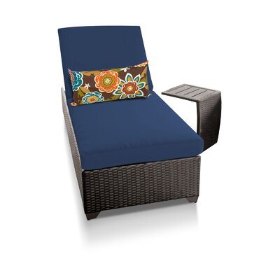 Classic 2 Piece Chaise Lounge Set with Cushion Fabric: Navy
