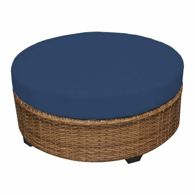 Laguna Ottoman with Cushion Fabric: Navy