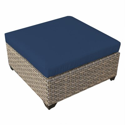 Monterey Ottoman with Cushion Fabric: Navy