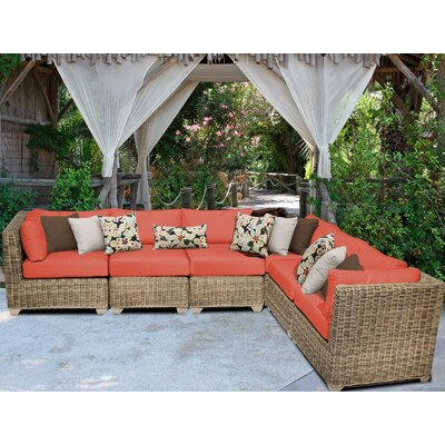 Cape Cod Sofa With Cushions Fabric: Tangerine