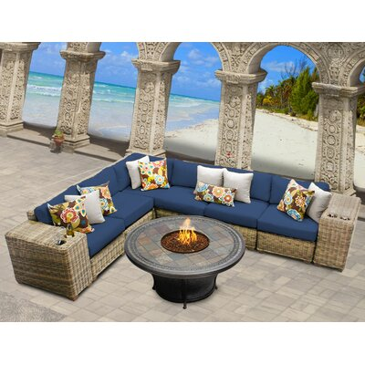 Rattan Sectional Set Cushions - Product photo