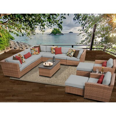 Laguna 13 Piece Sectional Seating Group with Cushion Fabric: Grey