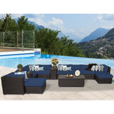 Venice 13 Piece Sectional Seating Group with Cushion Fabric: Navy