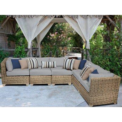 Cape Cod Sofa With Cushions Fabric: Grey