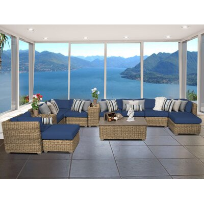 Cape Cod 13 Piece Sectional Seating Group with Cushion Fabric: Navy