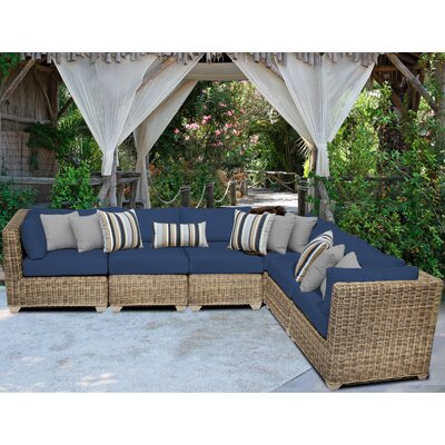 Cape Cod Sofa With Cushions Fabric: Navy