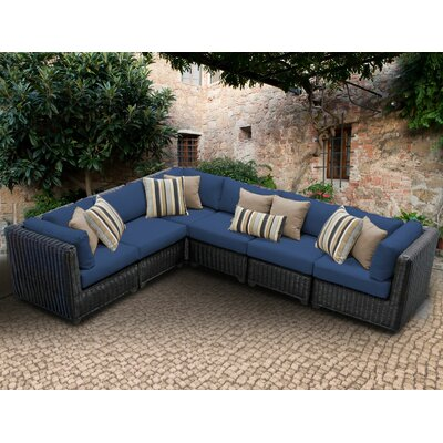 Venice Sofa With Cushions Fabric: Navy