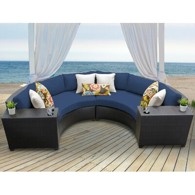 Barbados 4 Piece Sectional Seating Group with Cushion