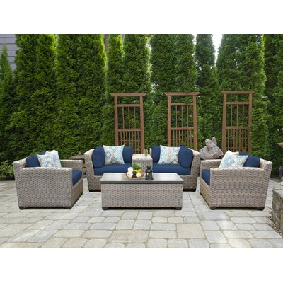 Florence 6 Piece Deep Seating Group with Cushion