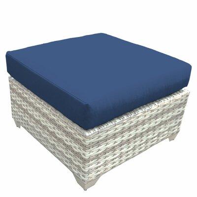 Fairmont Ottoman with Cushion Fabric: Navy