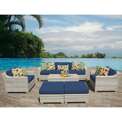 Fairmont Sectional Seating Group with Cushion Fabric: Navy