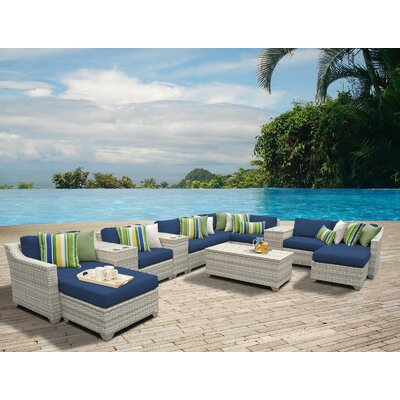 Fairmont 14 Piece Sectional Seating Group with Cushion Fabric: Navy