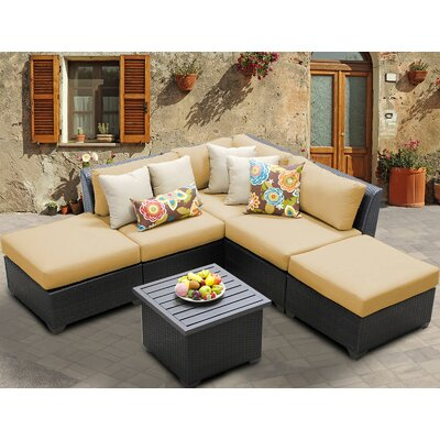 Barbados 6 Piece Deep Seating Group with Cushion Fabric: Sesame