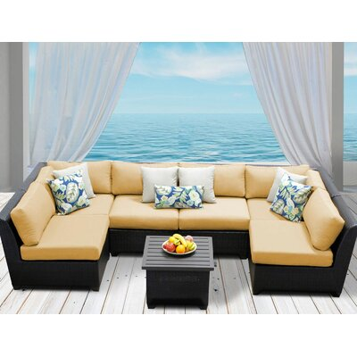 Barbados 7 Piece Deep Seating Group with Cushion Fabric: Sesame