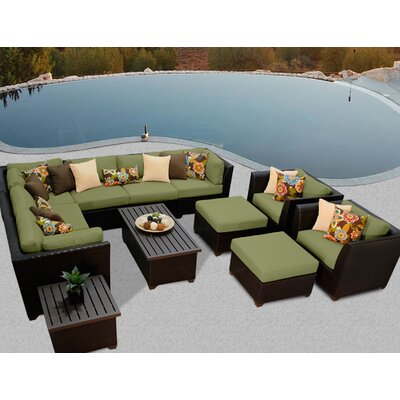 Barbados 12 Piece Sectional Seating Group with Cushion Fabric: Cilantro