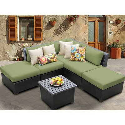 Barbados 6 Piece Deep Seating Group with Cushion Fabric: Cilantro