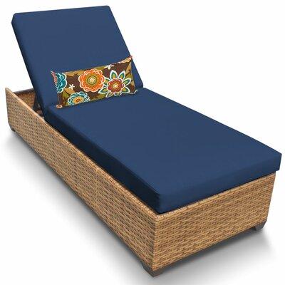 Laguna Chaise Lounge with Cushions Fabric: Navy