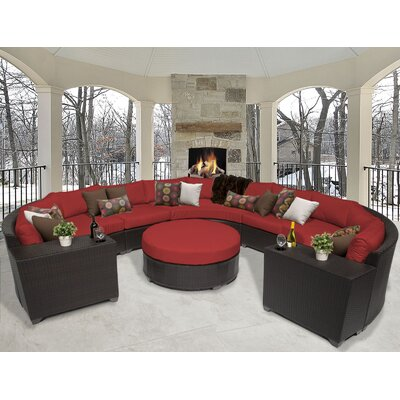 Barbados 8 Piece Sectional Seating Group with Cushion Fabric: Terracotta