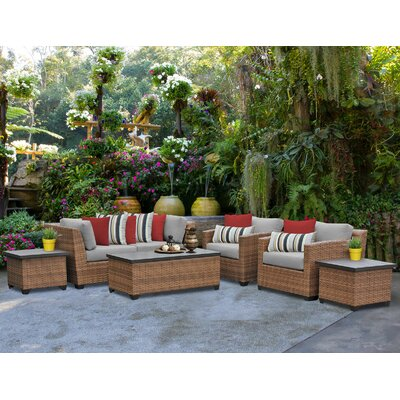 Laguna 7 Piece Deep Seating Group with Cushion Fabric: Grey