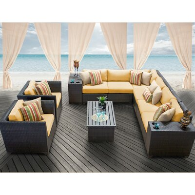 Barbados 11 Piece Deep Seating Group with Cushion Fabric: Sesame