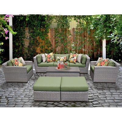 Florence 8 Piece Deep Seating Group with Cushion Fabric: Cilantro
