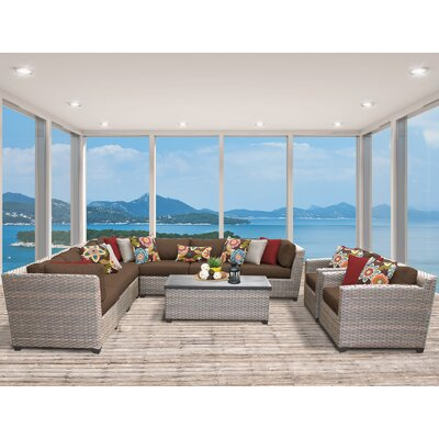 Florence 10 Piece Sectional Seating Group with Cushion Fabric: Cocoa