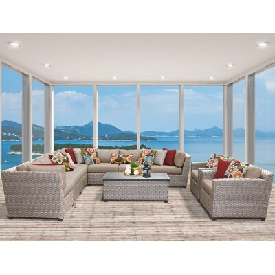 Florence 10 Piece Sectional Seating Group with Cushion Fabric: Wheat