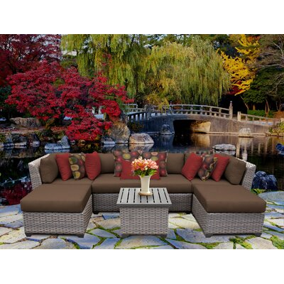 Florence 7 Piece Sectional Seating Group with Cushion Fabric: Cocoa