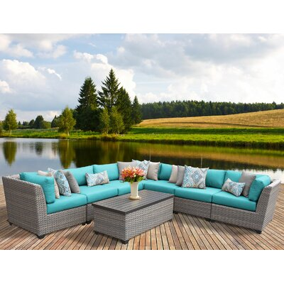 Florence 8 Piece Sectional Seating Group with Cushion Fabric: Aruba