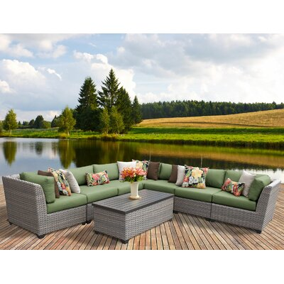 Florence 8 Piece Sectional Seating Group with Cushion Fabric: Cilantro