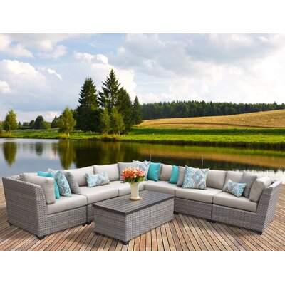 Florence 8 Piece Sectional Seating Group with Cushion Fabric: Beige