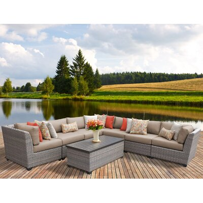 Florence 8 Piece Sectional Seating Group with Cushion Fabric: Wheat