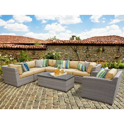 Florence 8 Piece Sectional Seating Group with Cushion Fabric: Sesame