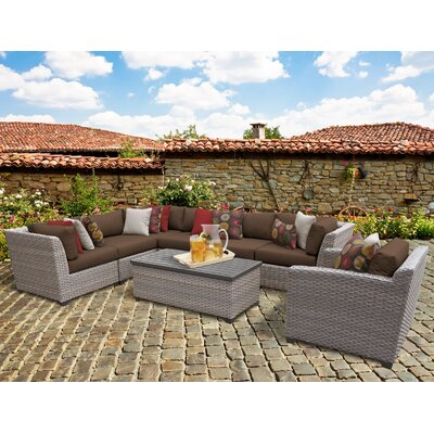 Florence 8 Piece Sectional Seating Group with Cushion Fabric: Cocoa