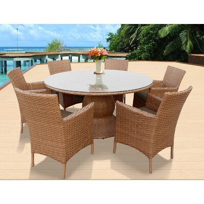 Laguna Patio Dining Set Finish: Tangerine