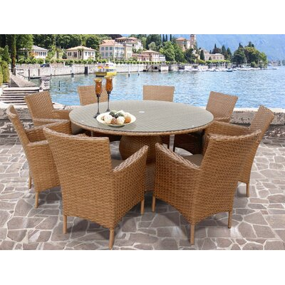 Laguna Patio Dining Set Finish: Wheat